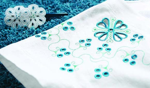 Embroidery cutwork needle kit