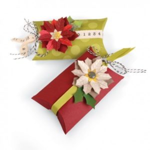 THINLITS DIE SET 7 PZ - BOX, PILLOW & POINSETTIAS 660660
